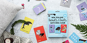 Heads and Tails Matching Game Native New Zealand Animals