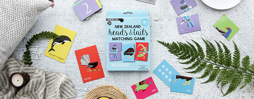 Curious Kiwi Game with heads and tails animals